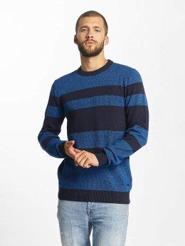 Bench Tröja Structured Stripe blå