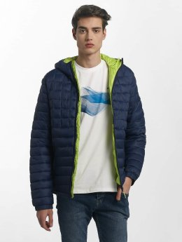 Bench Übergangsjacke Quilted Hooded blau
