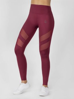 Beyond Limits Leggings Super High Waist Mesh rosso
