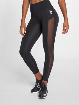 Beyond Limits Leggings/Treggings High Waist Mesh czarny