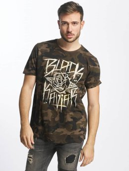 Black Kaviar T-Shirt Rundrun camouflage