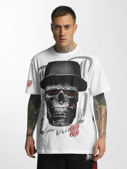 Blood In Blood Out T-Shirt Out Skull Hat weiß