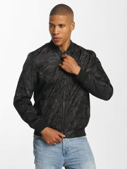 Brave Soul Куртка-бомбардир Jaquard Camo черный