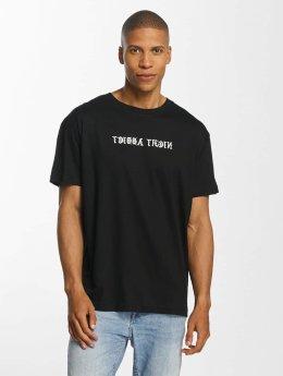 Brave Soul Message T-Shirt Black/White Print