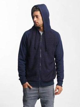 Brave Soul Hoodies con zip Shane blu