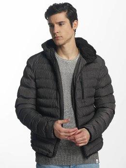 Brave Soul Manteau hiver Puffer gris