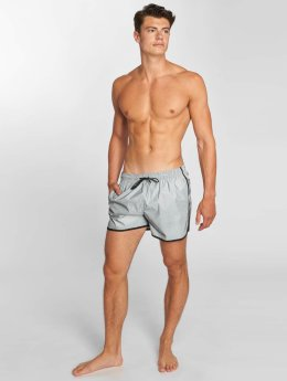 Brave Soul Swim shorts Reflect  silver colored
