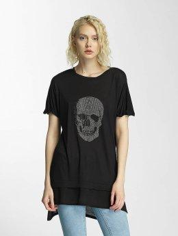 Brave Soul T-paidat Hotfix Stud Skull musta
