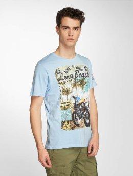 Brave Soul T-Shirt Waves bleu