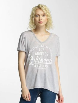 Brave Soul T-Shirt Soul Burn Out V-Neck grau