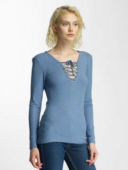 Brave Soul T-Shirt manches longues Tie Up bleu