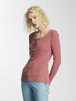 Brave Soul T-Shirt manches longues Tie Up rose