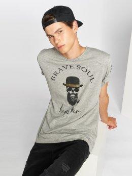 Brave Soul T-shirts Midas grå