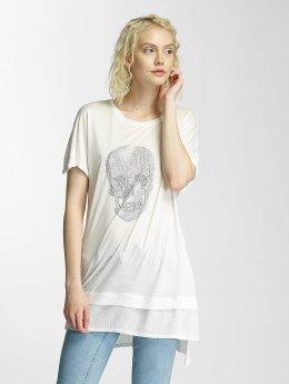 Brave Soul T-Shirty Hotfix Stud Skull bezowy