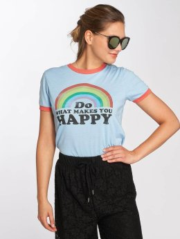 Brave Soul T-Shirty Happy niebieski