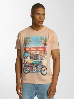 Brave Soul T-Shirty Crew Neck pomaranczowy