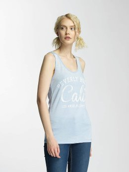Brave Soul Tank Tops Soul Burn Out blau