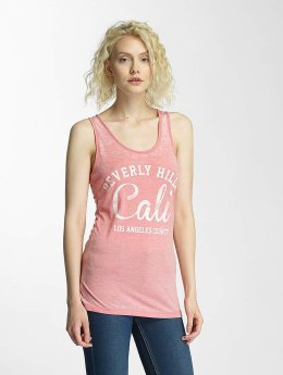Brave Soul Burn Out Tank Top Coral