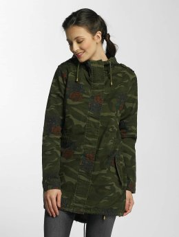 Brave Soul Veste mi-saison légère Hooded Cotton Twill Unlined camouflage