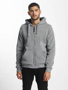 Brave Soul Zip Hoodie Sherpa Lined grå