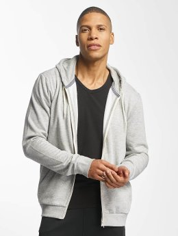 Brave Soul Zip Hoodie Through grau