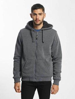 Brave Soul Zip Hoodie Sherpa Lined grey