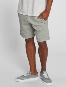 Carhartt WIP Šortky Chase Cotton/Polyester Heavy Sweat Shorts šedá