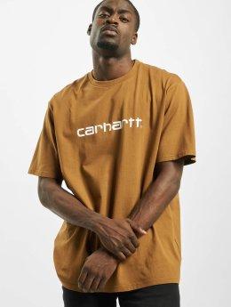 Carhartt WIP Футболка Script коричневый