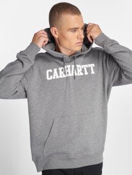 Carhartt WIP Bluzy z kapturem College szary