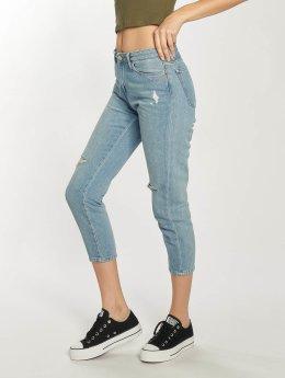 Carhartt WIP Boyfriend Jeans Maverick Domino Ankle modrý