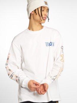 Carhartt WIP Camiseta de manga larga Trojan Boss Sounds blanco