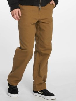 Carhartt WIP Dżinsy straight fit Single Knee brazowy
