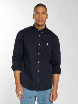 Carhartt WIP Hemd Madison Regular Fit blau