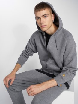 Carhartt WIP Hoodies con zip Chase Zip grigio