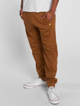 Carhartt WIP Joggebukser Chase Cotton/Polyester Heavy Sweat brun