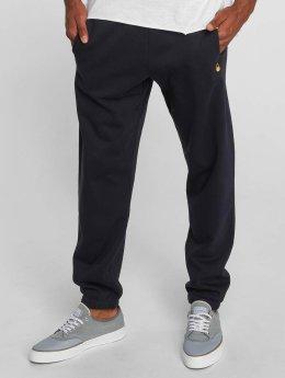 Carhartt WIP Joggingbyxor Chase Cotton/Polyester Heavy Sweat blå