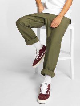 Carhartt WIP Látkové kalhoty Fatigue zelený