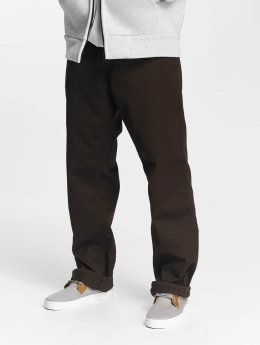 Carhartt WIP Loose Fit Jeans Denison hnědý