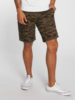 Carhartt WIP Colton Clip Relaxed Tapered Fit Shorts Camo Tiger Laurel Stone Washed