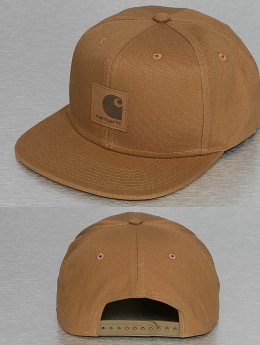 Carhartt WIP Snapback Caps Logo Canvas ruskea