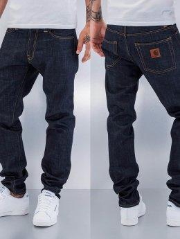 Carhartt WIP Straight Fit Jeans Edgewood Klondike II modrý