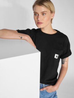Carhartt WIP T-Shirt Carrie Pocket schwarz