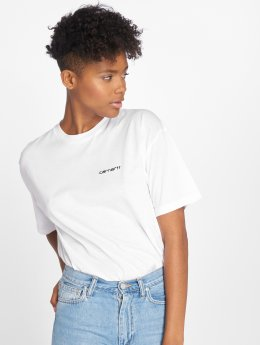 Carhartt WIP T-Shirty Script Embroidery bialy