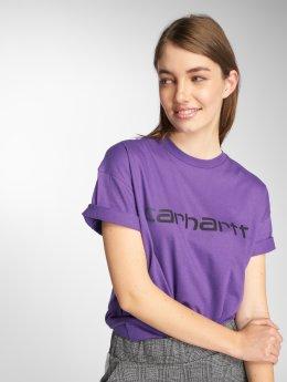 Carhartt WIP T-Shirty Script fioletowy