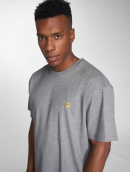 Carhartt WIP T-Shirty Chase szary
