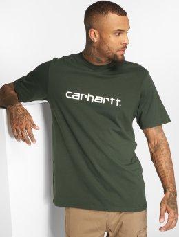Carhartt WIP T-skjorter Script grøn