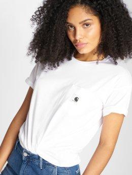 Carhartt WIP T-skjorter Carrie Pocket hvit