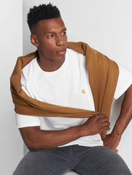 Carhartt WIP T-skjorter Chase hvit