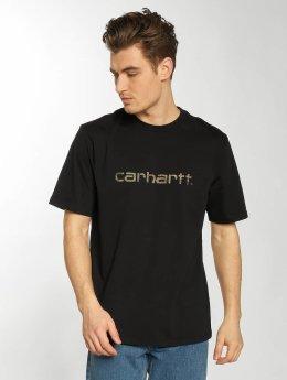 Carhartt WIP Trika Script čern