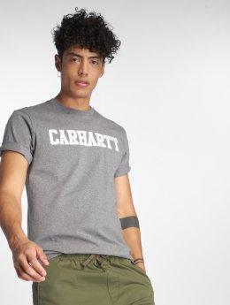 Carhartt WIP Trika College šedá